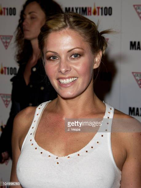 Nicole Eggert during Maxim Hot 100 Party Arrivals at Yamashiro in Hollywood California United States