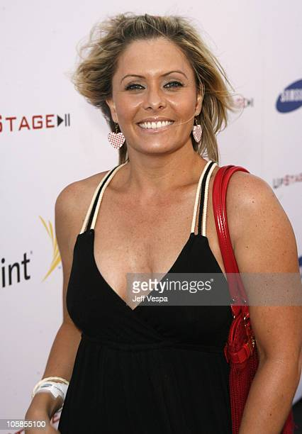 Nicole Eggert during Samsung and Sprint Present the UpStage Country Club Red Carpet and Inside at Private Residence in Beverly Hills California...