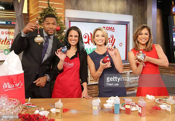 AMERICA Nicole Farb shares holiday craft ideas on 'Good Morning America' Thursday November 10 airing on the ABC Television Network MICHAEL