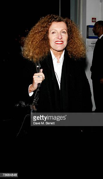 Nicole Farhi attends the a fundraiser party for the Almeida Theatre at the Almeida Theatre on March 23 2007 in London England