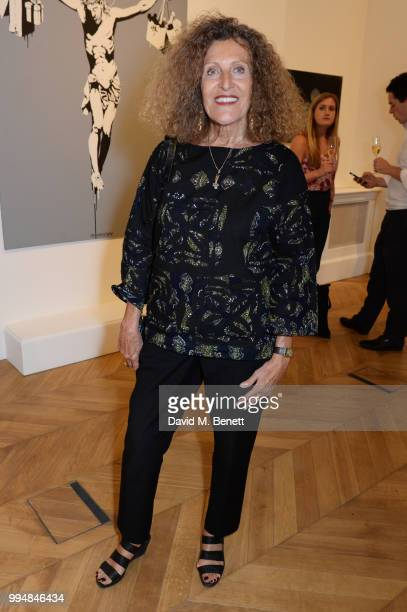 Nicole Farhi attends the Bansky 'Greatest Hits 20022008' exhibition VIP preview at Lazinc on July 9 2018 in London England