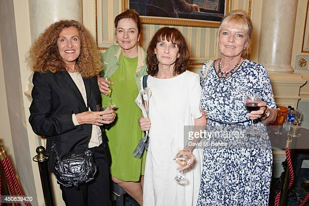 Nicole Farhi Diana Quick Norma Heyman and guest pose in the foyer following the press night performance of Skylight at Wyndhams Theatre on June 18...