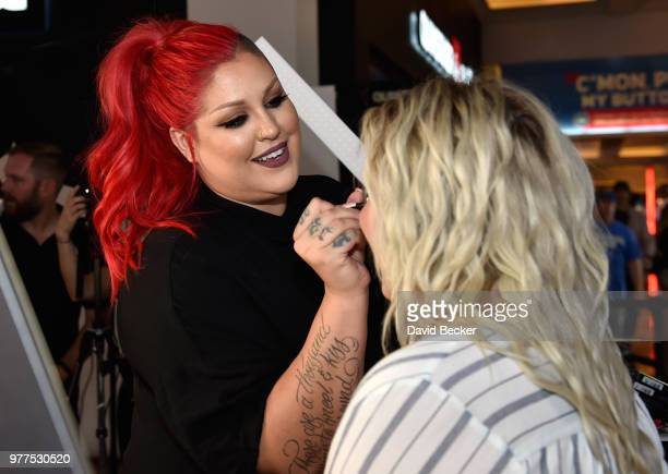 Nicole Faulkner attends the Morphe store opening with Jaclyn Hill at the Miracle Mile Shops at Planet Hollywood Resort Casino on June 16 2018 in Las...