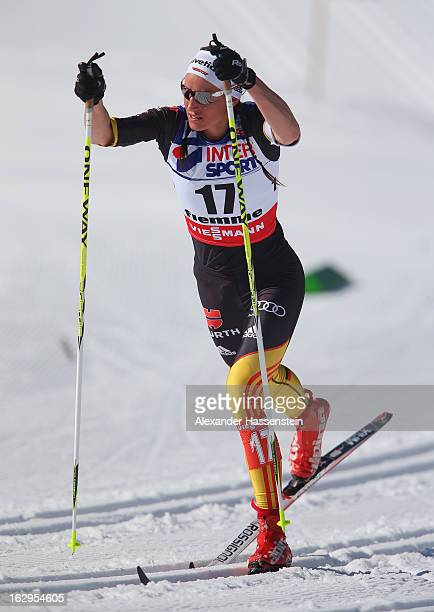 Nicole Fessel of Germany in action during the Women's Cross Country Mass Start 30Km at the FIS Nordic World Ski Championships on March 2, 2013 in Val...