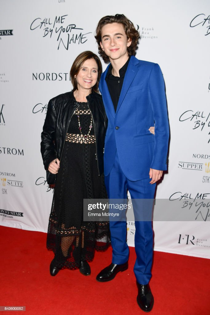 Nicole Flender (L) and actor Timothee Chalamet arrive at Nordstrom Supper Suite 'Call Me By Your Name' official premiere after party at STK Toronto on September 7, 2017 in Toronto, Canada.