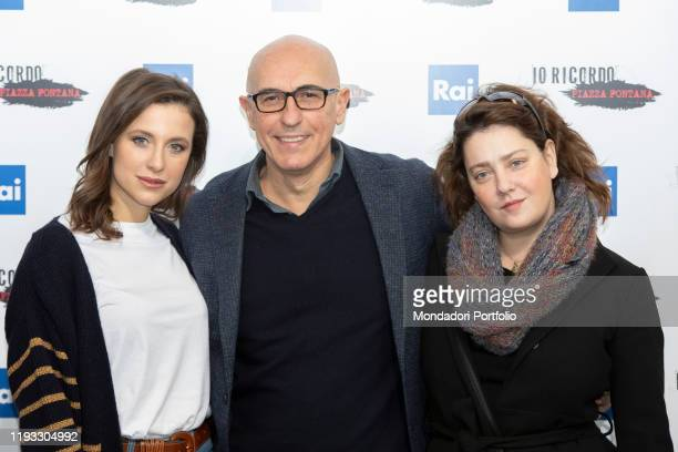 Nicole Fornaro italian actress Giovanna Mezzogiorno and Italian director and scriptwriter Francesco Miccichè during the photocall of presentation of...