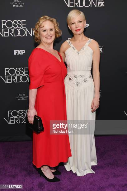 Nicole Fosse and Michelle Williams attend the New York Premiere for FX's Fosse/Verdon on April 08 2019 in New York City