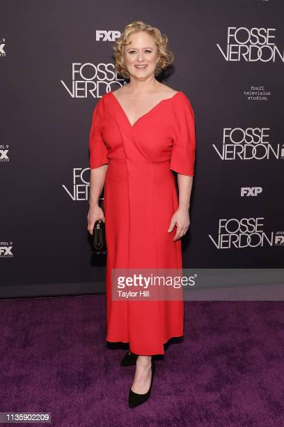 Nicole Fosse attends the premiere of Fosse/Verdon at the Gerald Schoenfeld Theatre on April 8 2019 in New York City