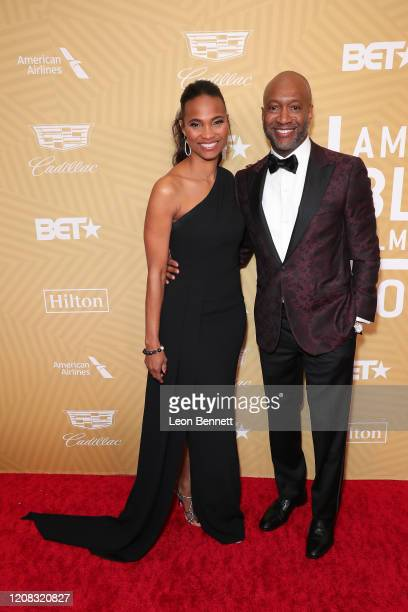Nicole Friday and Jeff Friday attend American Black Film Festival Honors Awards Ceremony at The Beverly Hilton Hotel on February 23, 2020 in Beverly...