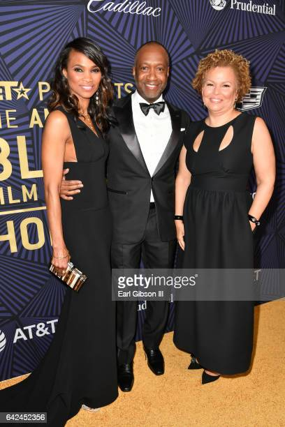 Nicole Friday, founder of ABFF Jeff Friday and Chairman and chief executive officer of BET Debra Lee attend BET Presents the American Black Film...