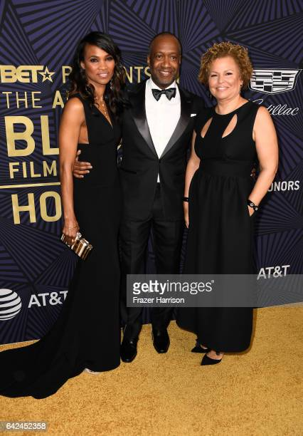 Nicole Friday founder of ABFF Jeff Friday and Chairman and chief executive officer of BET Debra Lee attend BET Presents the American Black Film...