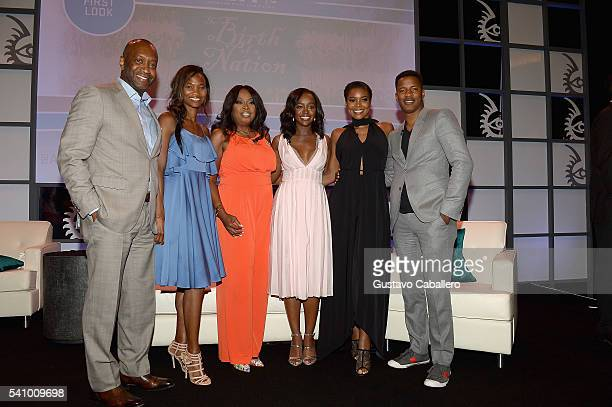 Nicole Friday Jeff Friday Star Jones Gabrielle Union Aja Naomi King and Nate Parker attends The American Black Film Festival first look 'The Birth Of...