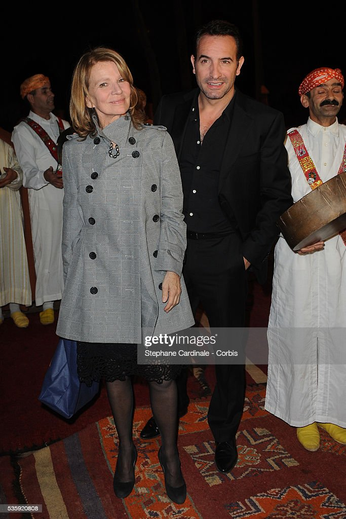 Nicole Garcia and Jean Dujardin attend The Dior Party during the Marrakech 10th Film Festival.