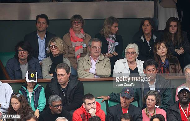 Nicole Garcia Line Renaud Isabelle Huppert attend the Men's Singles final between Novak Djokovic of Serbia and Andy Murray of Great Britain on day...