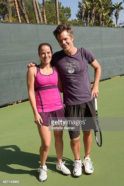 Nicole Gibbs and Timothy Olyphant attend MAK Games 2014 on October 12 2014 in Beverly Hills California