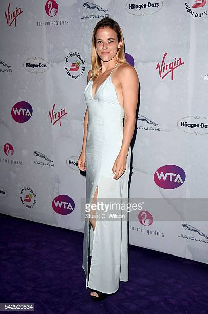 Nicole Gibbs attends the annual WTA PreWimbledon Party presented by Dubai Duty Free at the Kensington Roof Gardens on June 23 2016 in London England