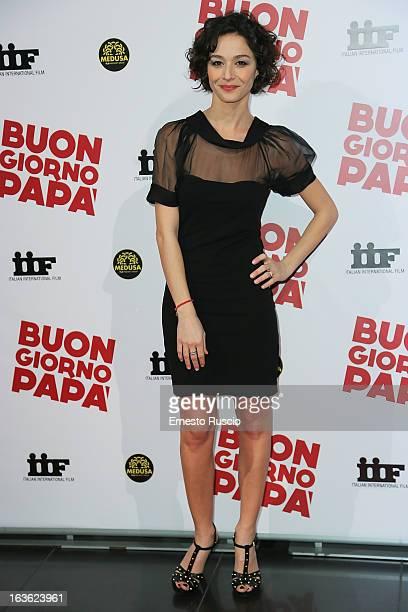 Nicole Grimaudo attends the 'Buongiorno Papa' premiere at Cinema Adriano on March 13 2013 in Rome Italy
