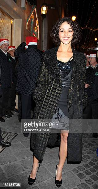 Nicole Grimaudo attends the Christmas Lights Cocktail Party at the Stella Mc Cartney boutique on December 6 2011 in Rome Italy