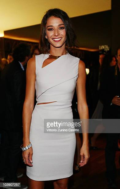Nicole Grimaudo attends The Ciak Party hosted by the Lancia Cafe on September 7 2010 in Venice Italy