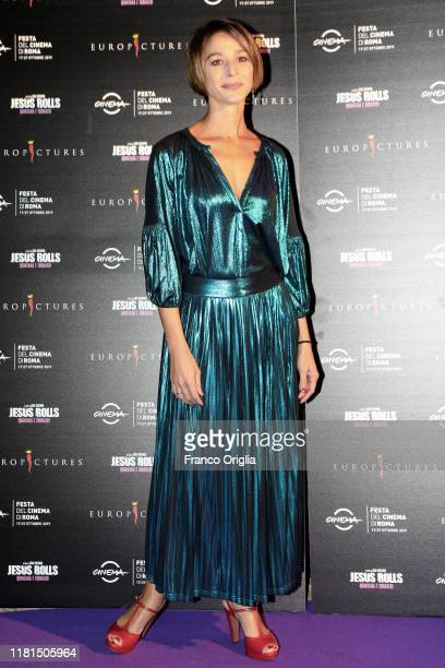 Nicole Grimaudo attends the premiere of the movie The Jesus Rolls at Casa del Cinema on October 16 2019 in Rome Italy
