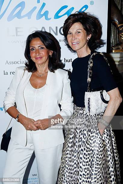 Nicole Guedj and Sylvie Rousseau attend 'Vaincre Le Cancer' Charity Gala Night at Opera Garnier on July 10 2016 in Paris France