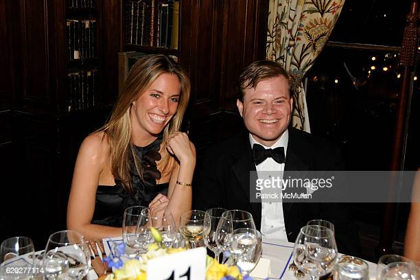 Nicole Hanley and Harry LeFrak attend CAROLINE ROWLEY Birthday Terez and Peter Rowley Anniversary Dinner and Party at Knickerboker Club on April 12...