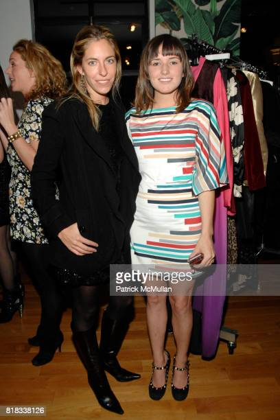 Nicole Hanley and Kick Kennedy attend HAUTELOOK Presents Decadestwo Trunk Show at Bryant Park Hotel on February 13 2010 in New York City