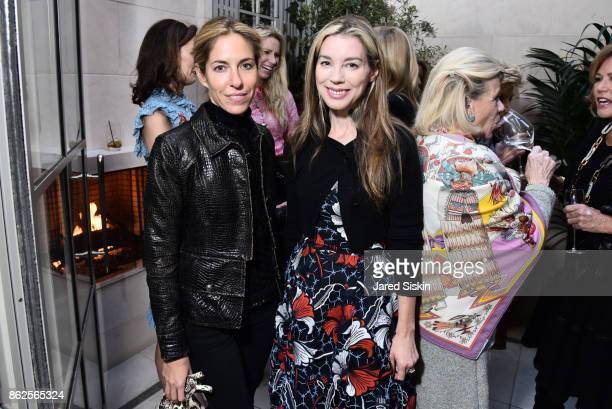 Nicole Hanley Pickett and Alexandra Lind Rose attend QUEST VHERNIER Host Luncheon at MAJORELLE at Majorelle on October 17 2017 in New York City