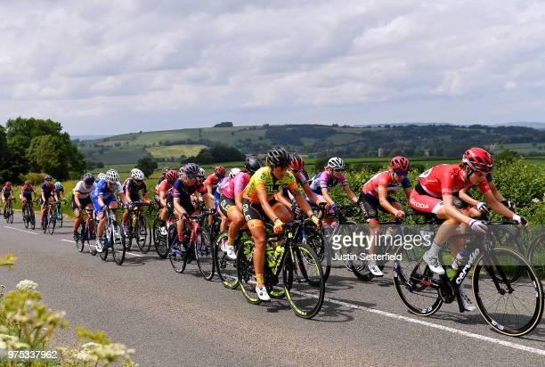 Nicole Hanselmann of Switzerland and CerveloBigla Pro Cycling Team / Soraya Paladin of Italy and Team Ale Cipollini / Alice Barnes of Great Britain...