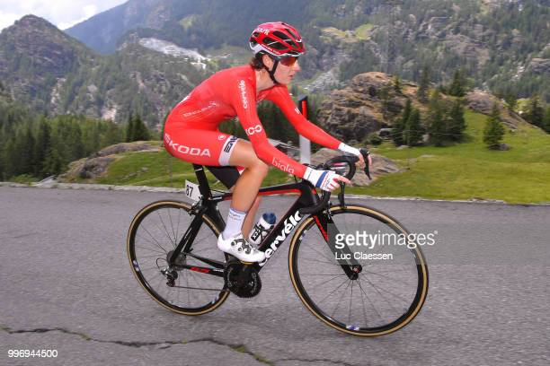 Nicole Hanselmann of Switzerland and CerveloBigla Pro Cycling Team / during the 29th Tour of Italy 2018 Women Stage 7 a 15km Individual time trial...