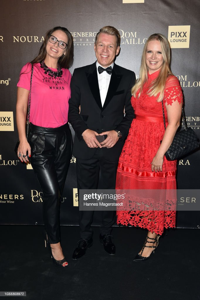 Nicole Hayduga, Axel Kahn and Eva Krsak (Just Eve) during the PIXX Lounge Munich at Steigenberger Hotel on September 14, 2018 in Munich, Germany.