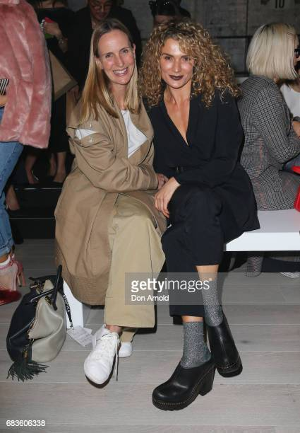Nicole Heinz and Danielle Cormack arrive ahead of the Zambesi show at MercedesBenz Fashion Week Resort 18 Collections at Carriageworks on May 16 2017...