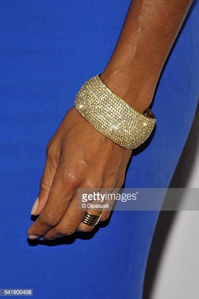 Nicole Henry bracelet/ring detail attends as the Friars Club honors Tony Bennett with the Entertainment Icon award at the New York Sheraton Hotel...