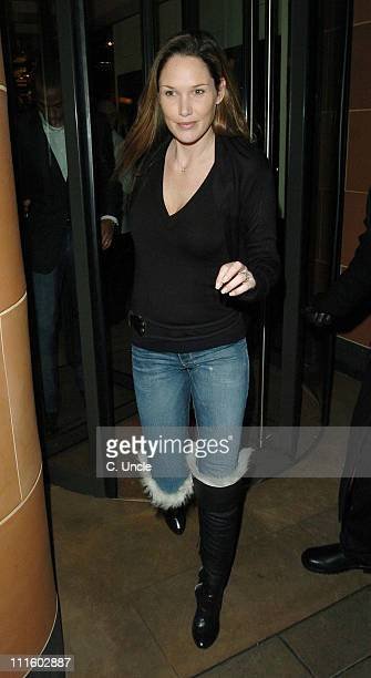 Nicole Henry during Thierry Henry Sighting at Cipriani's Restaurant in London January 18 2006 at Cipriani's Restaurant in London Great Britain