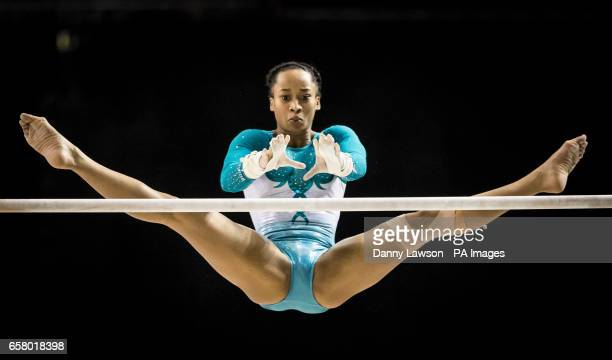 Nicole Hibbert competes in the Women's Uneven Bars during day three of the 2017 Gymnastics British Championships at the Echo Arena Liverpool