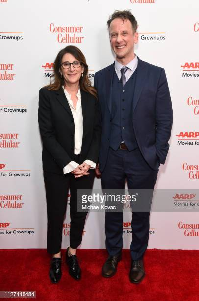 Nicole Holofcener and Jeff Whitty attend AARP The Magazine's 18th Annual Movies for Grownups Awards at the Beverly Wilshire Four Seasons Hotel on...