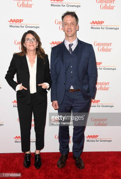 Nicole Holofcener and Jeff Whitty attend the 18th Annual AARP The Magazine's Movies For Grownups Awards at the Beverly Wilshire Four Seasons Hotel on...
