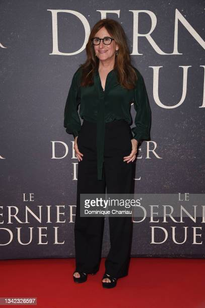 """Nicole Holofcener attends the French premiere of 20th Century Studios' """"The Last Duel"""" at cinema Gaumont Champs Elysees on September 24, 2021 in..."""