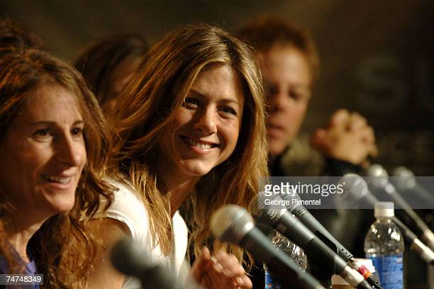 Nicole Holofcener director and Jennifer Aniston at the Sundance House in Park City Utah