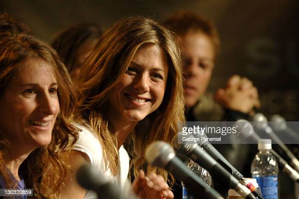 Nicole Holofcener director and Jennifer Aniston during 2006 Sundance Film Festival Friends With Money Press Conference at Sundance House in Park City...