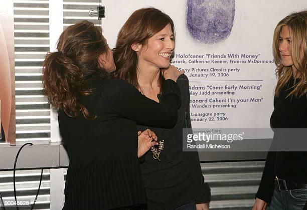 Nicole Holofcener director Catherine Keener and Jennifer Aniston