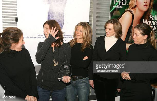 Nicole Holofcener director Catherine Keener Jennifer Aniston Joan Cusack and Frances McDormand