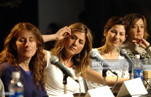Nicole Holofcener director Jennifer Aniston Catherine Keener and Joan Cusack