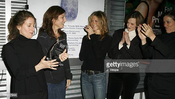 Nicole Holofcener director of Friends with Money Catherine Keener Jennifer Aniston Joan Cusack and Frances McDormand during the 2006 Sundance Film...