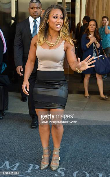 Nicole Hoopz Alexander is seen departing the Jacob Javits Center on May 14 2015 in New York City