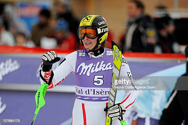 Nicole Hosp of Austria takes 3rd place during the Audi FIS Alpine Ski World Cup Women's Super Combined on December 19 2010 in Val d'Isere France