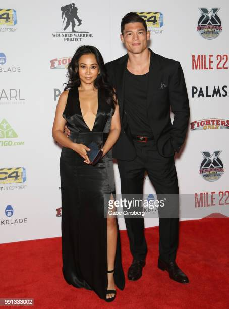 Nicole Jouban and her husband mixed martial artist Alan Jouban attend the 10th annual Fighters Only World Mixed Martial Arts Awards at Palms Casino...