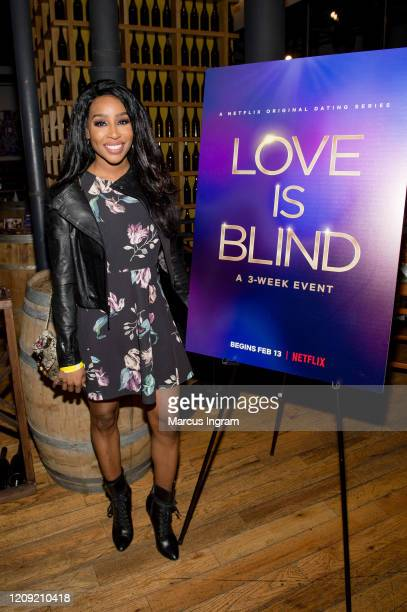 Nicole Kane attends the Netflix's Love is Blind VIP viewing party at City Winery on February 27 2020 in Atlanta Georgia