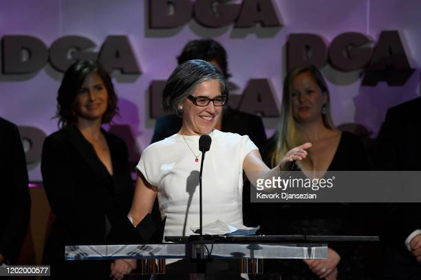 Nicole Kassell accepts Dramatic Series for 'Watchmen' during the 72nd Annual Directors Guild Of America Awards at The Ritz Carlton on January 25 2020...