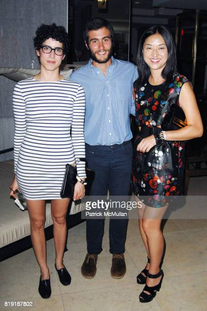 Nicole Katz Kevin Gruenberg and Christine Y Kim attend The First Annual Benefit Hosted By Los Angeles Nomadic Division at the Sunset Tower Hotel on...